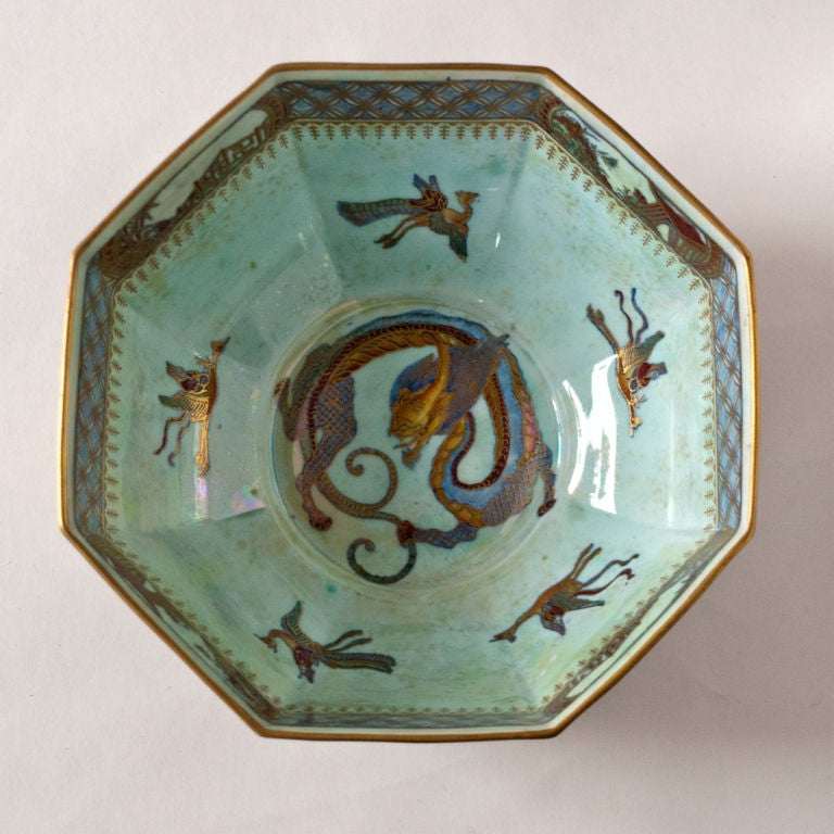 wedgwood fairyland lustre bowl daisy makeig jones art deco at 1stdibs. Black Bedroom Furniture Sets. Home Design Ideas