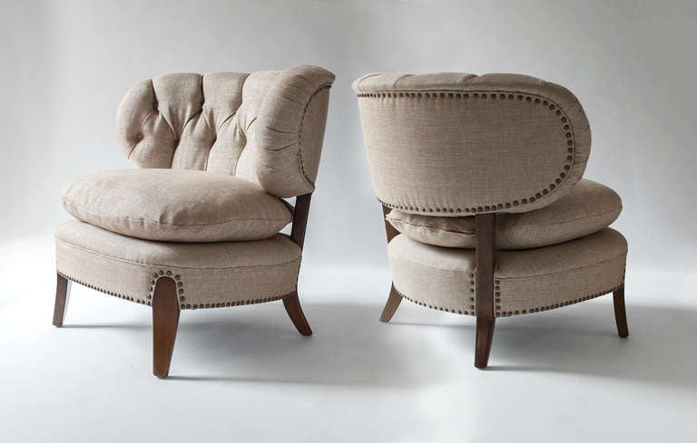 "Pair of Swedish ""Jio"" chairs by designed by Otto Schulz. 3"