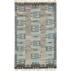 Scandinavian modern flat weave rug by sofia wid n for sofia wada textiles ltd at 1stdibs - Deco moderne flat ...