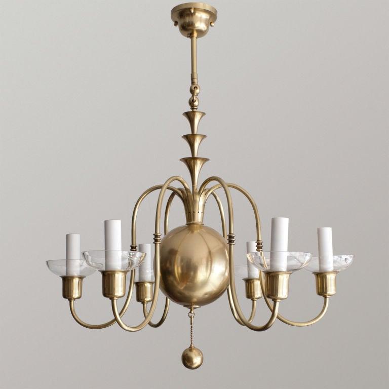Fantastic Swedish Art Deco Chandelier Elis Bergh C G Hallberg At 1stdibs