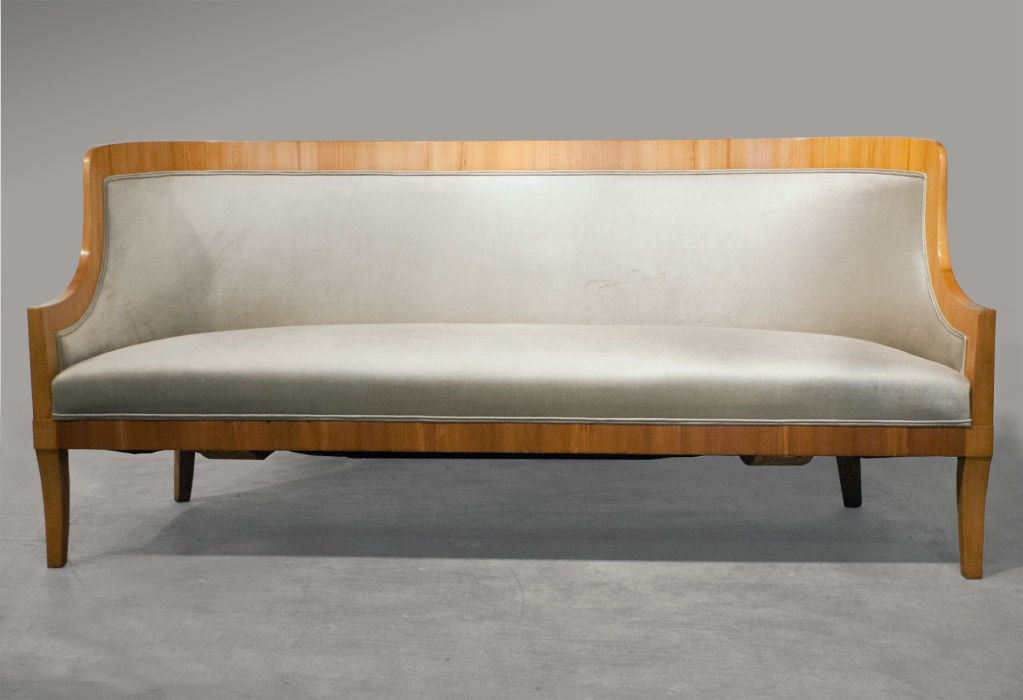 carl bergsten swedish art deco sofa from m s kungsholm 1928 at 1stdibs. Black Bedroom Furniture Sets. Home Design Ideas