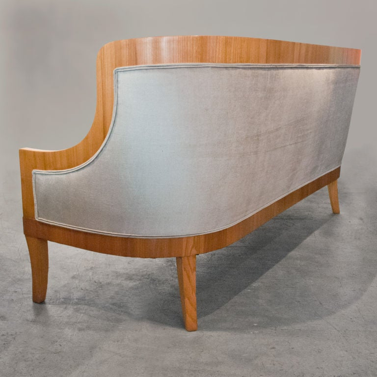 20th Century Carl Bergsten Swedish Art Deco sofa from M/S Kungsholm 1928