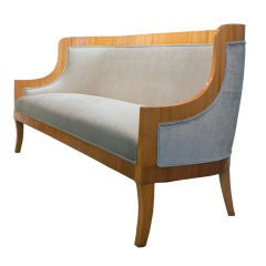 Carl Bergsten Swedish Art Deco sofa from M/S Kungsholm 1928