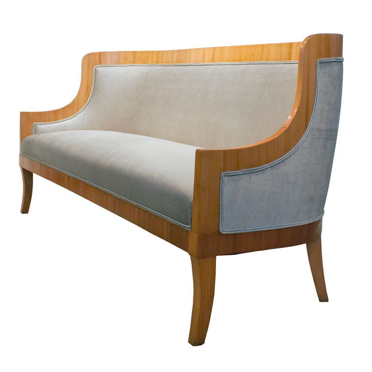 Carl Bergsten Swedish Art Deco sofa from M/S Kungsholm 1928