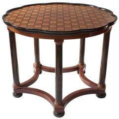 Swedish mahogany center table by David Bloomberg for NK