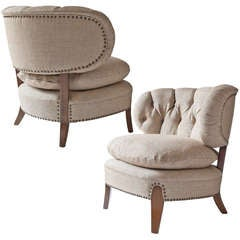 """Pair of Swedish """"Jio"""" chairs by designed by Otto Schulz."""