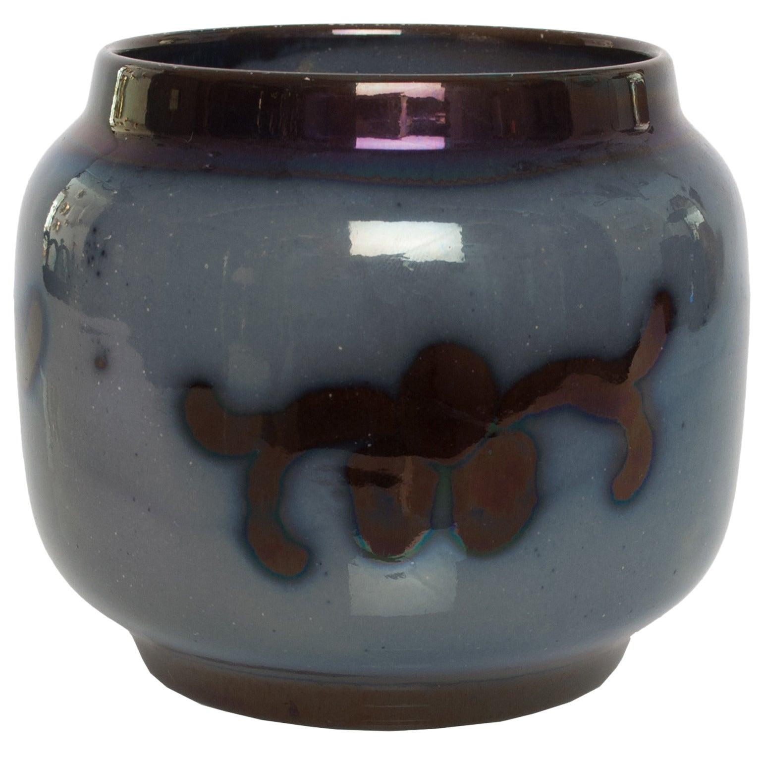 Swedish Art Deco Luster Glazed Vase by Nyman & Nyman Keramik, Höganäs