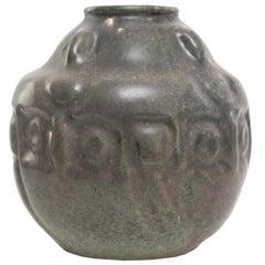 Swedish Art Nouveau Ceramic Vase by Karl Robert Svensson for Höganäs Keramik