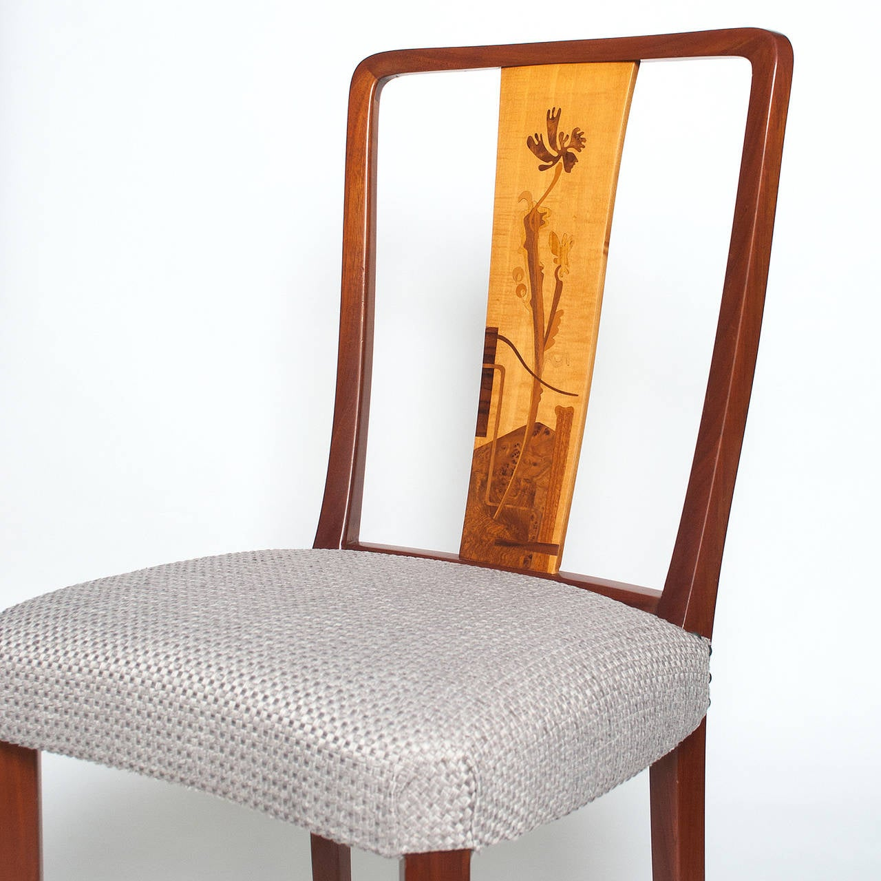 20th Century Scandinavian Modern Erik Chambert Set of Four Dining Chairs For Sale