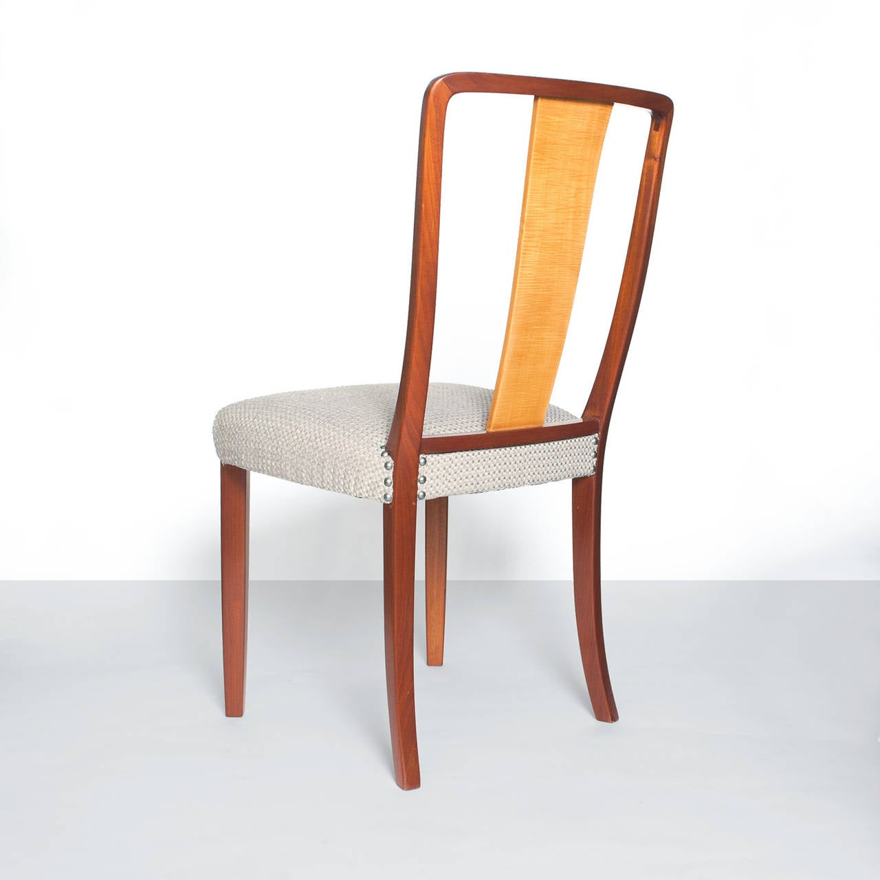 Wood Scandinavian Modern Erik Chambert Set of Four Dining Chairs For Sale