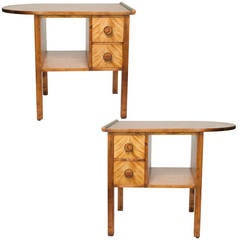 Pair of Swedish Art Deco Night Stands by Otto Schulz for Boet