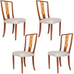 Scandinavian Modern Erik Chambert Set of Four Dining Chairs