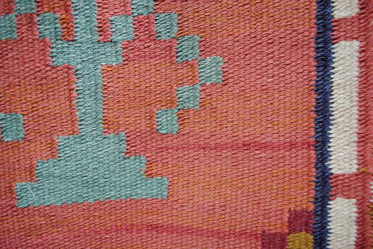 Large Scandinavian Modern Wool Flat-Weave