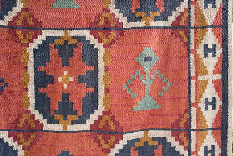 Large Scandinavian Modern Wool Flat Weave Quot Rollakan Quot Rug