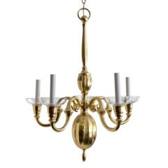 Swedish Art Deco 5 arm chandelier, Elis Bergh for C.G. Hallberg