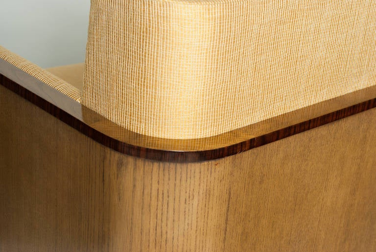 Scandinavian Modern Swedish Art Deco Lounge Chair with Veneered Sides and Back 7