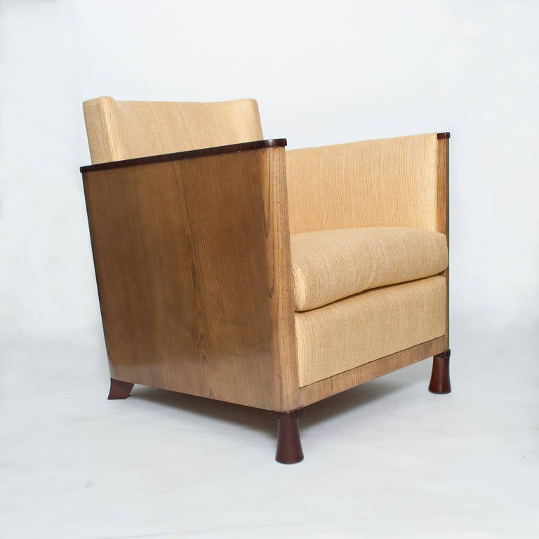 Scandinavian modern swedish art deco lounge chair with veneered sides and back for sale at 1stdibs - Deco lounge eetkamer modern ...
