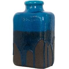 Scandinavian Modern Danish Ceramic Vase with Partial Drip Glaze