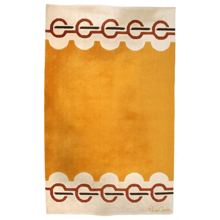 Pierre Cardin Rug Designed In His Paris Atelier Made Denmark For