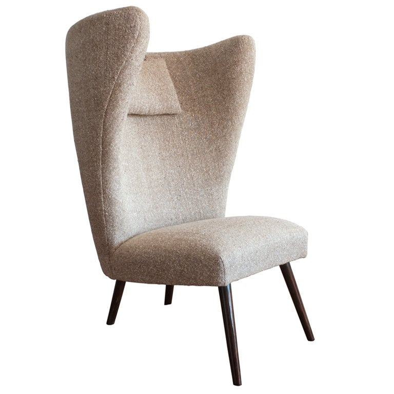 Great design German mid century wingback chair at 1stdibs