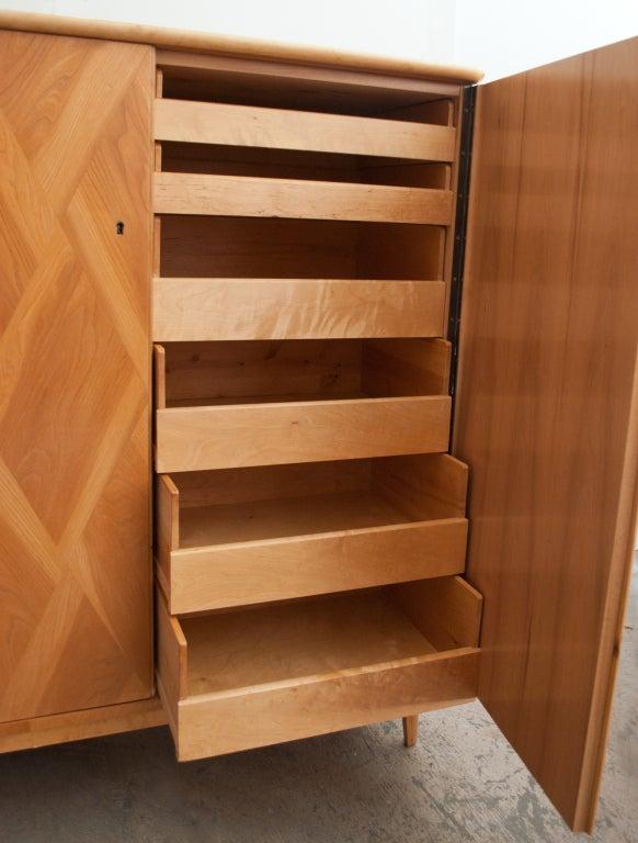 Swedish Art Deco 2 Door Cabinet In Basket Weave Quot Elm