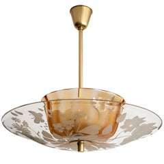 Swedish mid-century fixture designed by Bo Notini for Glossner