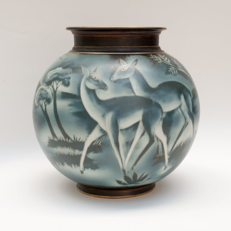 Swedish art deco vase by Gunnar Nylund for Rorstrand image 2