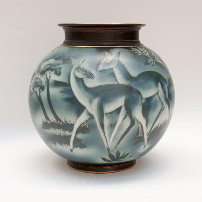 Swedish art deco vase by Gunnar Nylund for Rorstrand 2
