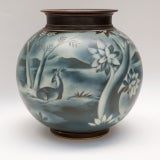 Swedish art deco vase by Gunnar Nylund for Rorstrand thumbnail 3