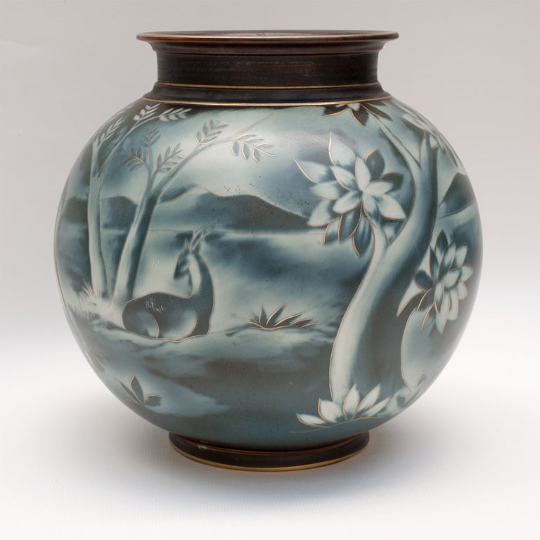 Swedish art deco vase by Gunnar Nylund for Rorstrand image 3