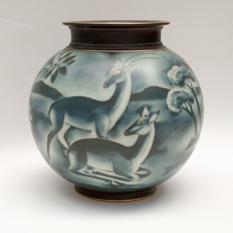Swedish art deco vase by Gunnar Nylund for Rorstrand image 4