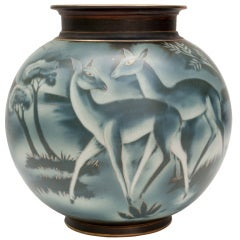 Swedish art deco vase by Gunnar Nylund for Rorstrand thumbnail 1