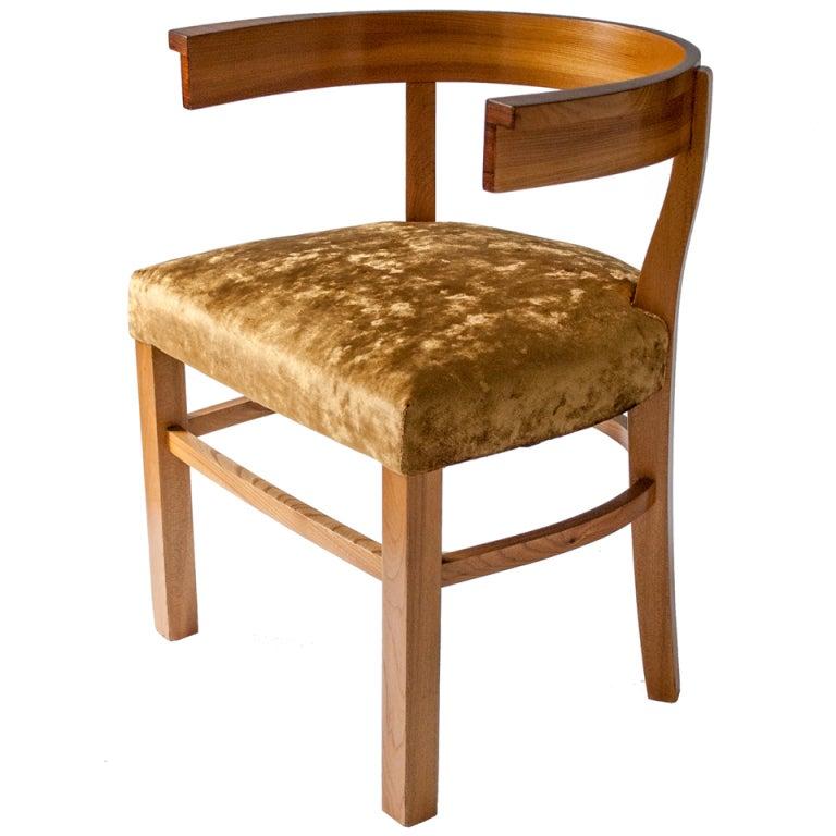 swedish art deco carl bergsten elm and rosewood klismos chair art deco office chair