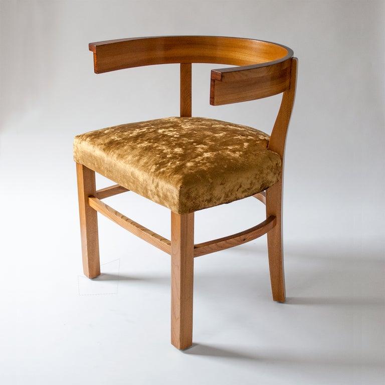 "Modern Klismos Chair: Scandinavian Modern Carl Bergsten Elm And Rosewood ""Klismos"" Chair. For Sale At 1stdibs"