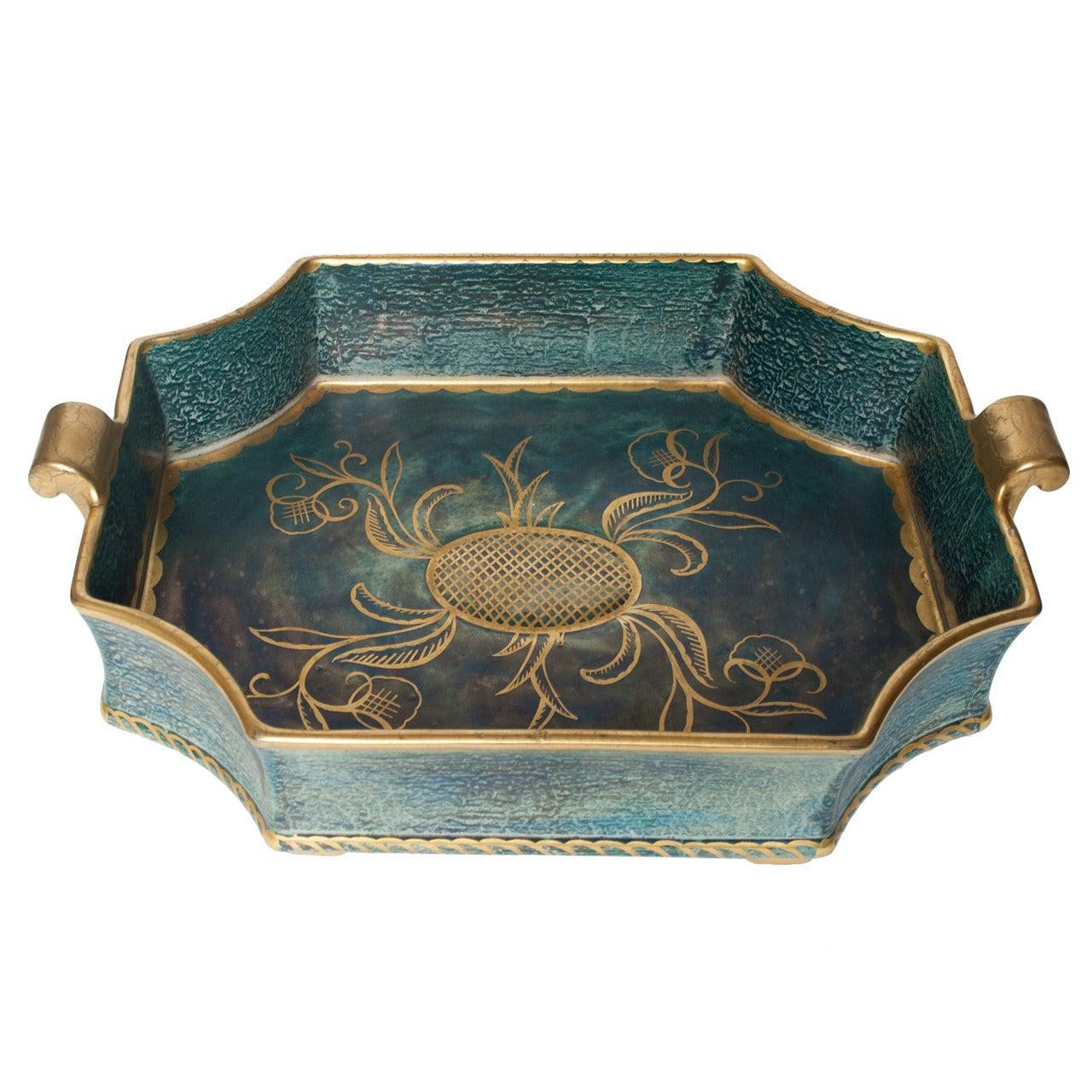 Swedish Art Deco Tray / Bowl by Josef Ekberg, Gustavsberg