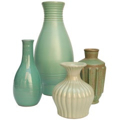 Swedish art deco ceramic vases by Ewald Dahlskog for Bo Fajans
