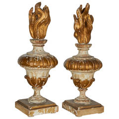 Giltwood Flame Religious Ornaments