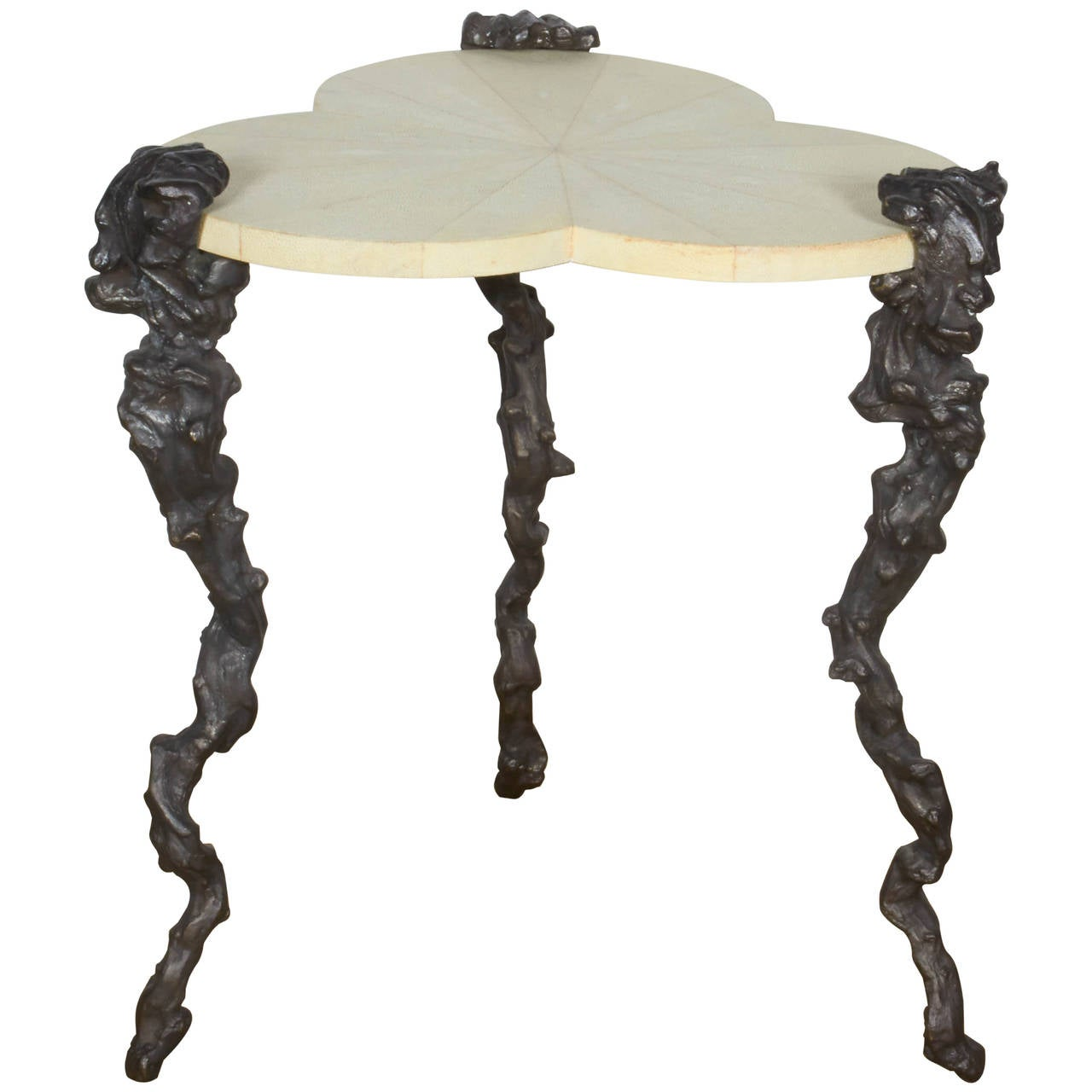 Shagreen Clover Table For Sale