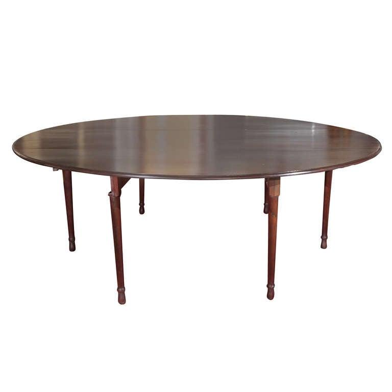 Large pre american civil war drop leaf dining table for Large drop leaf dining room tables