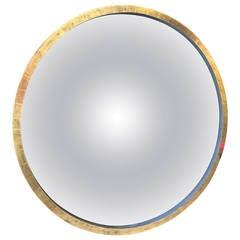Neoclassical Grey Bole and Giltwood Convex Mirror