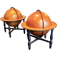 Pair of Cary's Terrestrial & Celestial Table Globes
