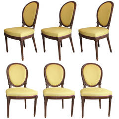 Set of Six Adam Mahogany Side Chairs