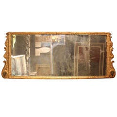 Queen Anne Gilt Gesso over Mantle Mirror