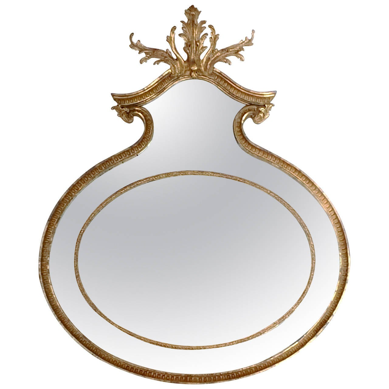 unusual adam oval giltwood mirror at 1stdibs