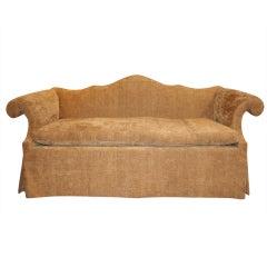 Chippendale Mahogany Camel Back Sofa