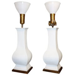 Pair of Chinese Style Ceramic Lamps Designed by Billy Haines
