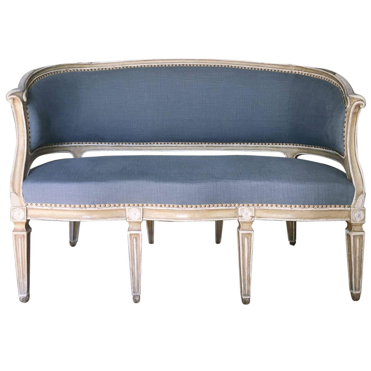 louis xvi painted canape at 1stdibs. Black Bedroom Furniture Sets. Home Design Ideas