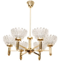 Hans-Agne Jakobsson Six-Arm Crystal Chandelier, 1 of 2