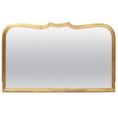 French 1940's 22kt Gold Washed Brass Framed Mirror by Durand