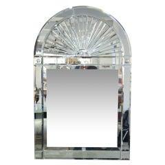 Venetian Style Domed Top Mirror by Karl Springer